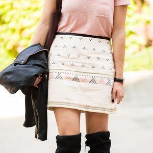 Madewell Gamine Jacquard Mini Skirt EUC